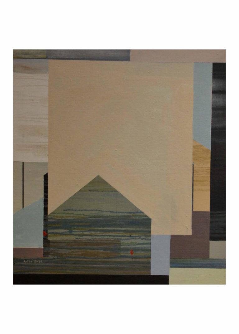 Richard Kočí - Urbanismus, olej na plátně