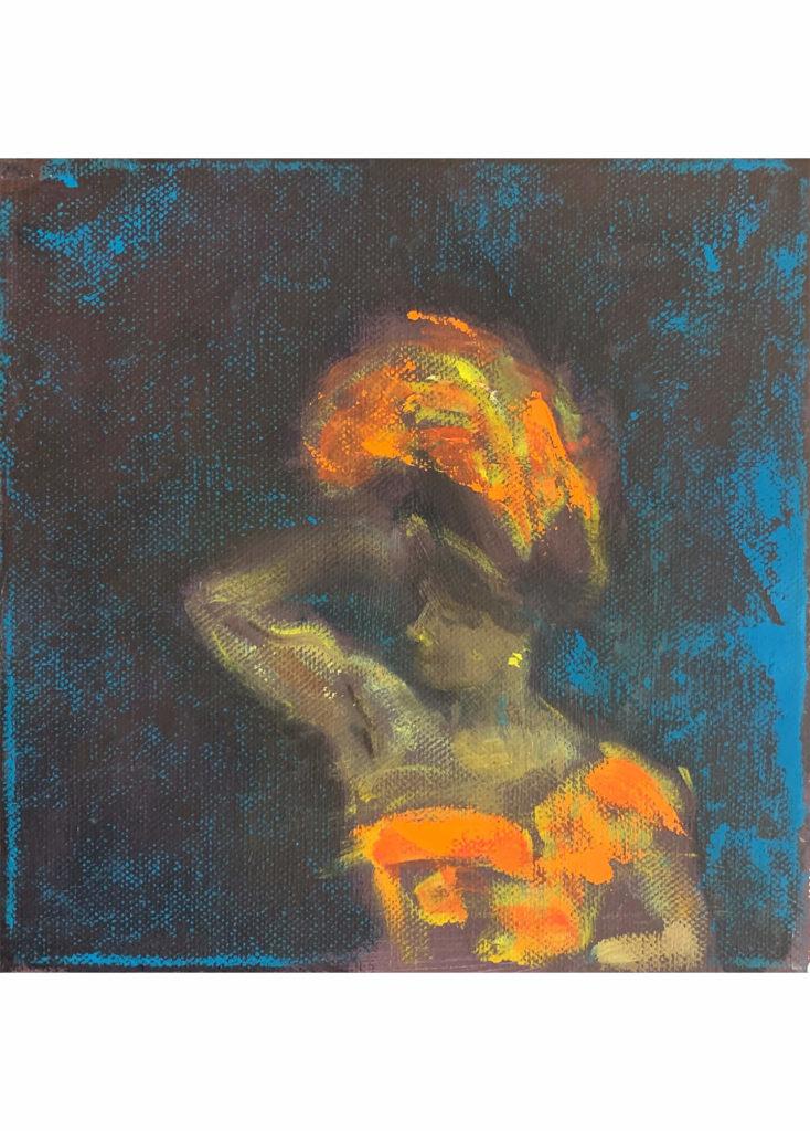 Alena Anderlová - Lady, olej na plátně