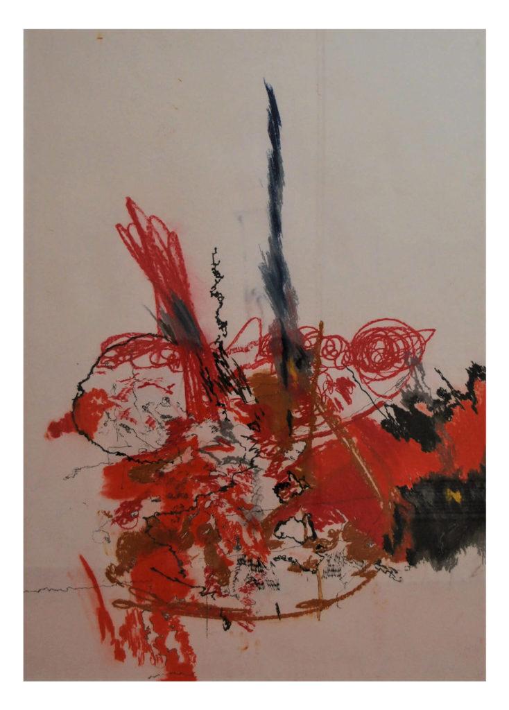 Ondrej Trnka – Bez názvu, grafit a pastel na papíře