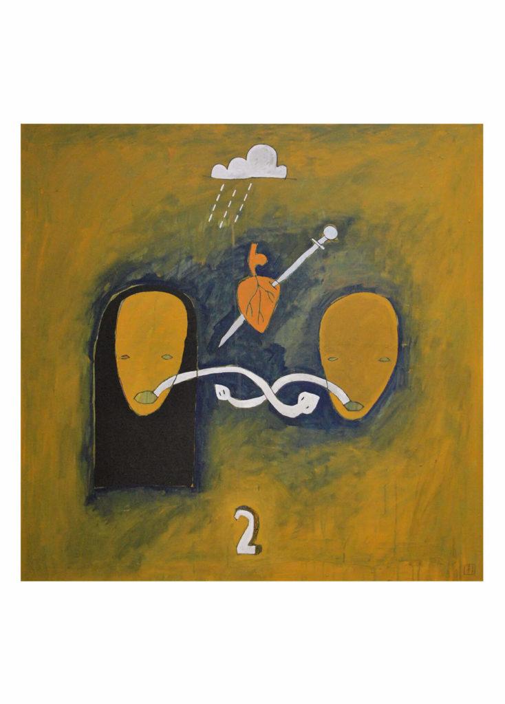 Cristo del Risco - Dvě. Olej na plátně. Akryl a grafit na plátně