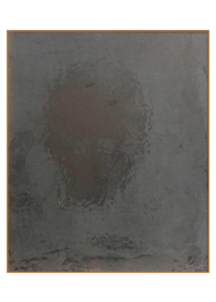 Albinus Grammar – H, malba na beton v měděném rámu