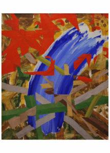 Zdeněk Hůla - Kristus na hoře Olivetské, olej na plátně, 80 x 110 cm