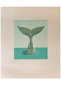Jan Gemrot - Velryba, litografie, 45 x 55cm