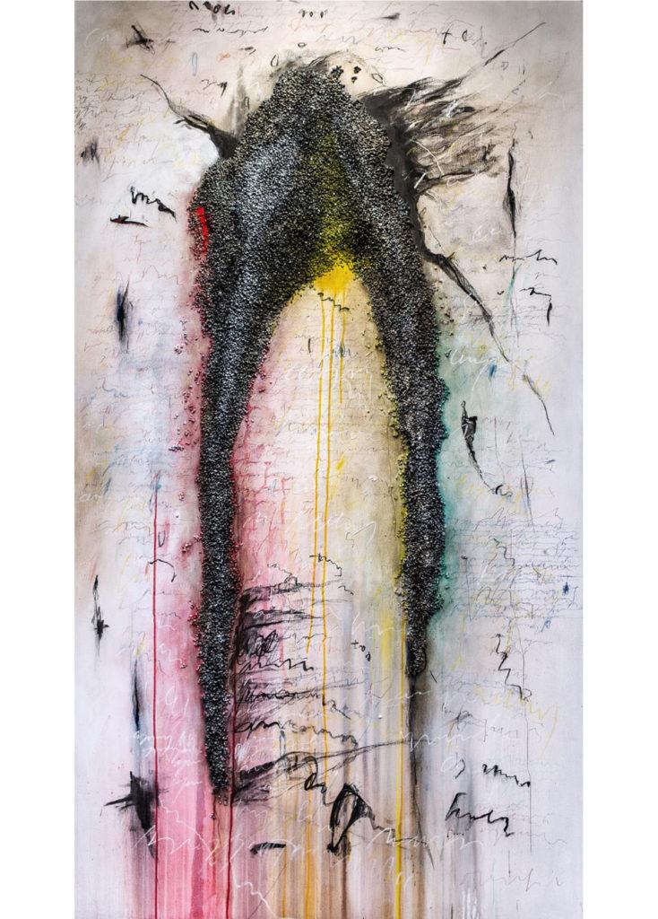 MAXIM – Costello, sprej a mramor na plátně
