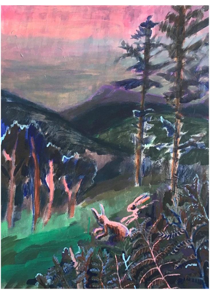 Adéla Marie Jirků - Vršky, olej na plátně